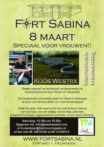 Koos Westra bij Fort Sabina op 8 maart 2015